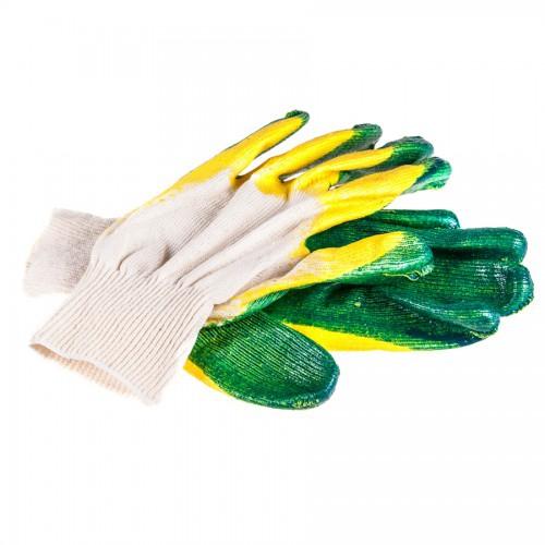 Перчатки хб двойной латексный облив