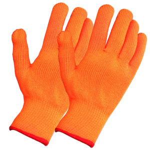 Перчатки акриловые утеплённые с начёсом