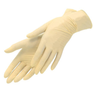 Перчатки латексные смотровые неопудренные