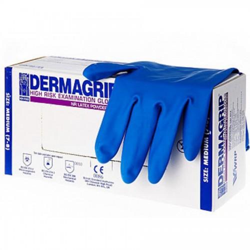 Перчатки латексные dermagrip high risk