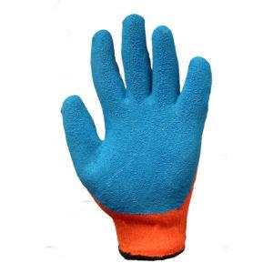 перчатки акриловые с рифлёным латексным покрытием 10 кл