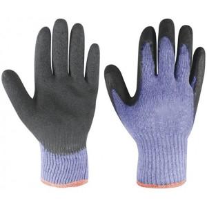 Перчатки хб с латексным рифлёным покрытием Торро эконом