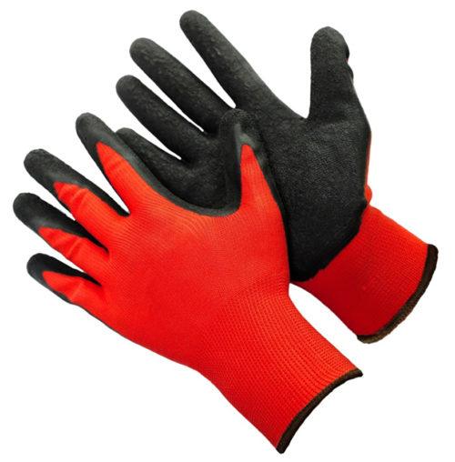 Перчатки нейлоновые с вспененным латексным покрытием