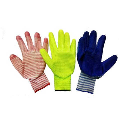 Перчатки нейлоновые полоска с нитриловым покрытиемм