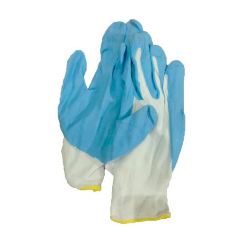 Перчатки нейлоновые с вспененным латексом эконом
