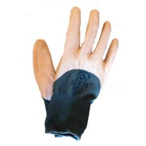 Перчатки нейлоновые с вспененным латексом