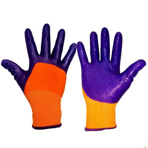 Перчатки нелоновые с нитриловым покрытием