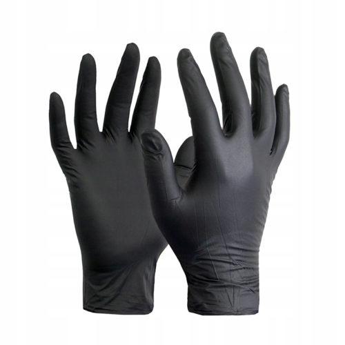 Перчатки нитриловые чёрные