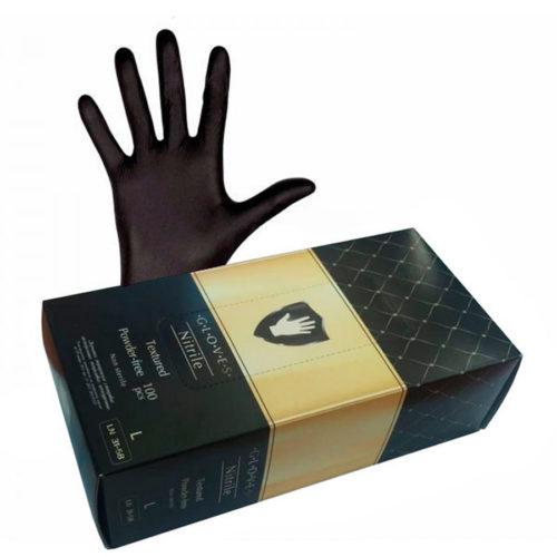 """Перчатки нитриловые черные """"Safe&Care"""" TN 31-58"""