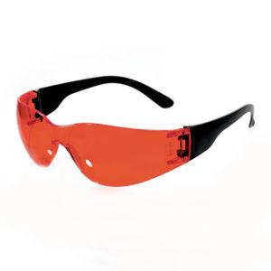 Очки защитные открытые тип Классик тим красные