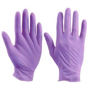 Перчатки нитриловые фиолетовые