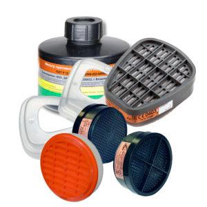 Фильтры противоаэрозольные, комбинированные, противогазовые