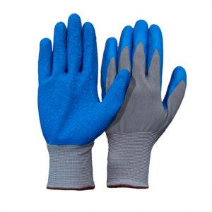 Перчатки нейлоновые с рифлёным латексным покрытием
